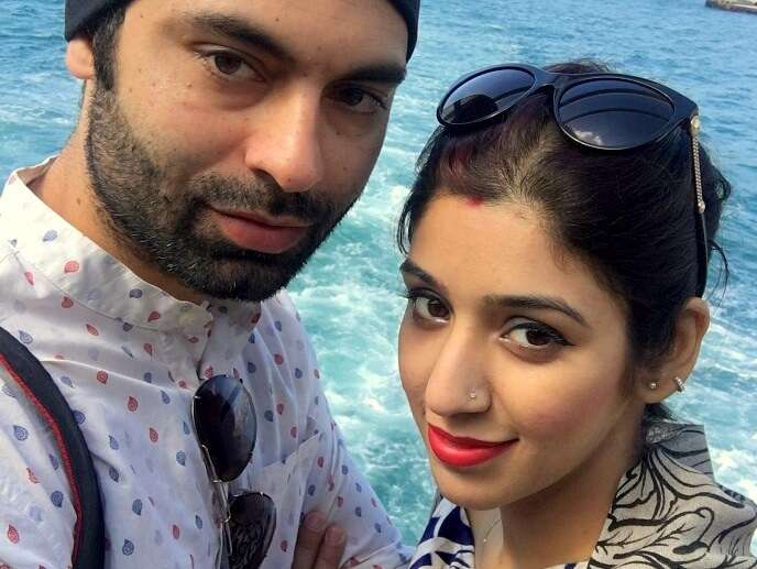 Jasmeet and her husband click a selfie while doing the Bosphorus Cruise ride
