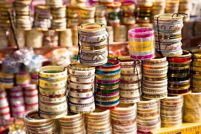 Lac jewelry at Clock Tower - One of the central spots for shopping in Udaipur