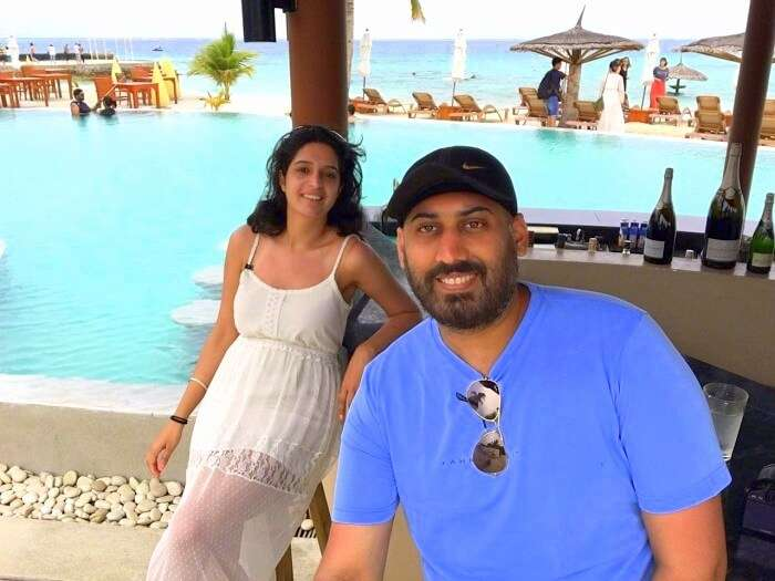 Angad and his wife enjoy in Maldives