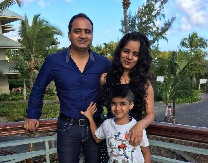 Raj Kumar and his family take the North Island Tour of Mauritius