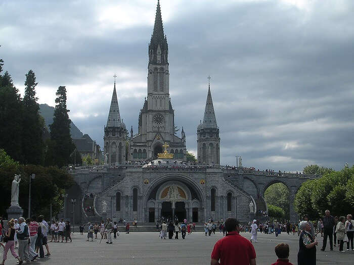 The pilgrimage site of Lourdes - a religious place to visit in France