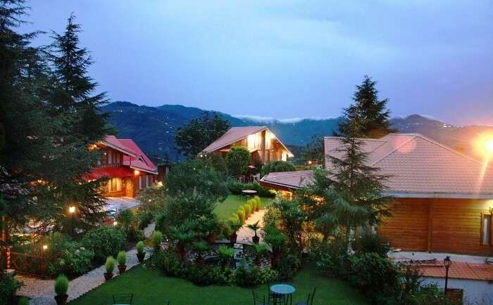 The Chalets Naldehra is a fine luxury golf resort in Himachal Pradesh