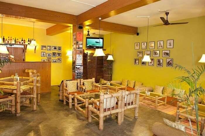 A well lit Drifters' Cafe