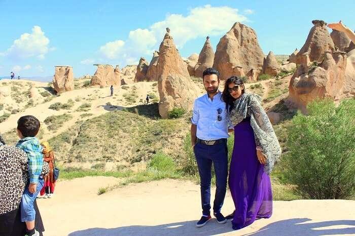 Jasmeet and her husband in Devrents Valley Turkey