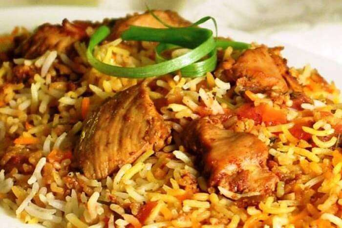 A tempting dish of Mauritian chicken biryani