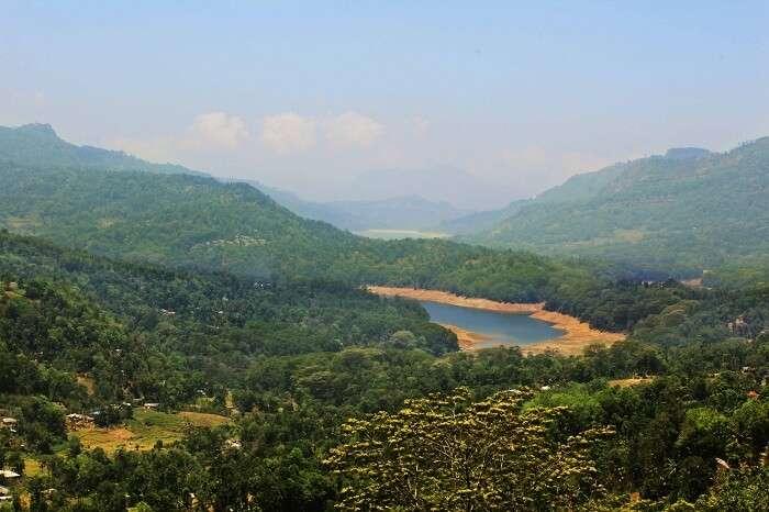 Panoramic view of Nuwara Eliya
