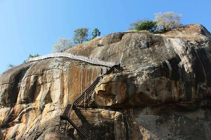 Famous Sigiriya rock in Sri Lanka