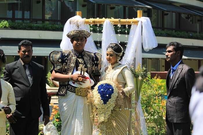 Sri Lankan wedding at the hotel
