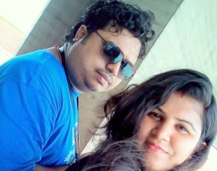 Sangram and his wife in Delhi