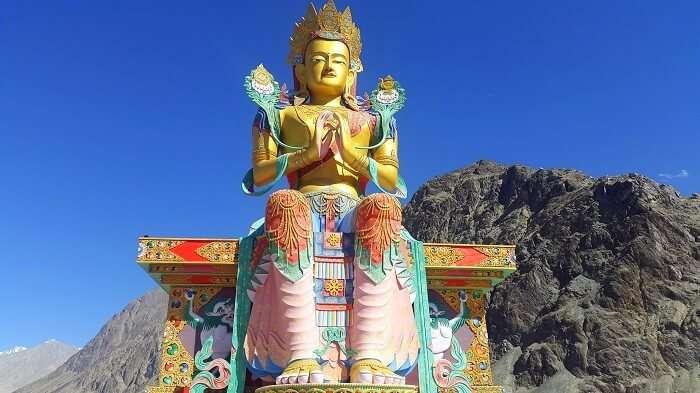 Statue at Diskit Monastery