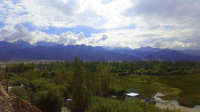 View of the beautiful town of Leh