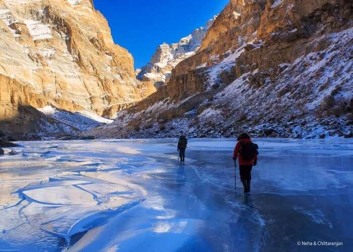 Walk on a frozen lake