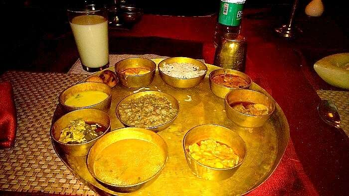 Trying the delicious cuisine in Rajsthan