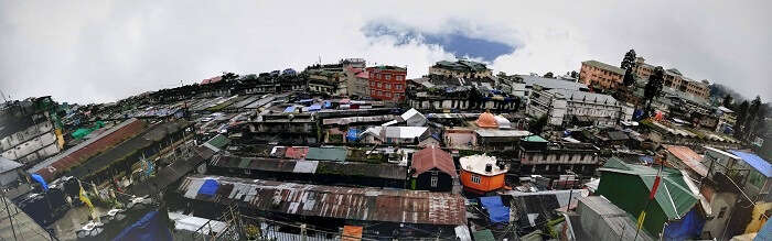Panoramic view of Darjeeling