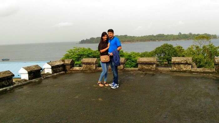 Vivek and his wife in Andaman