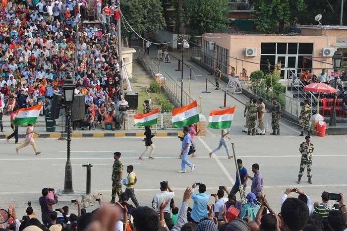 Evening Parade at Wagah Border