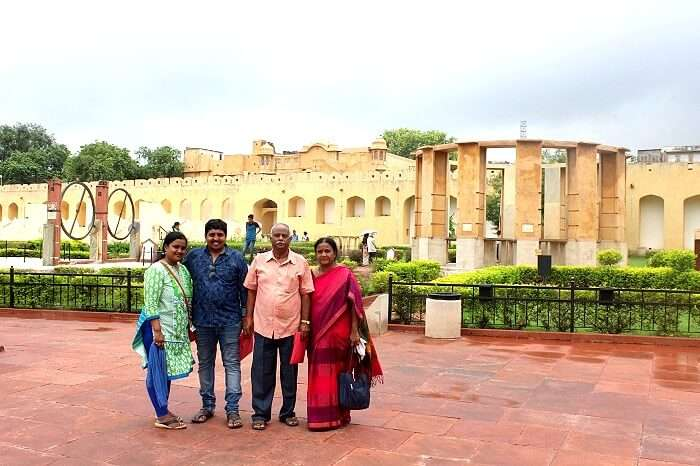 Satya and his family in Jaipur