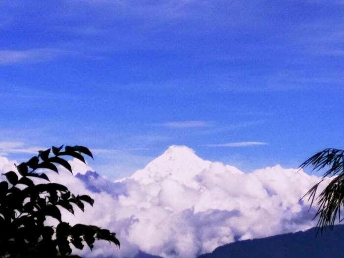 Kanchanjunga peak view from Gangtok