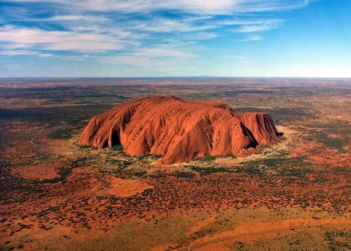 World's largest rock in Australia