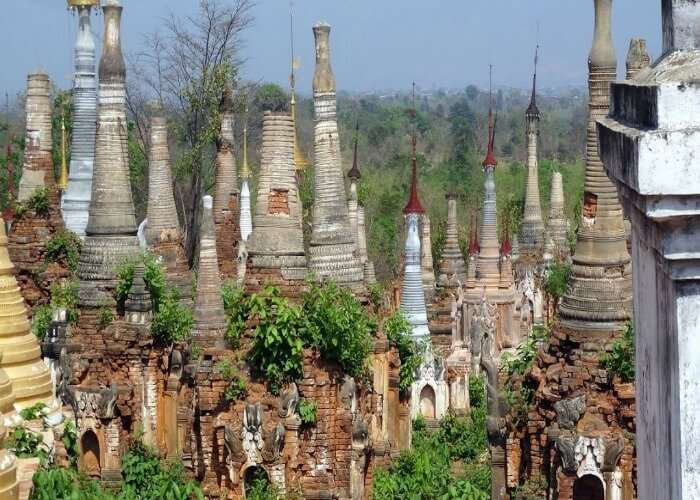 Hundreds of temples at one place