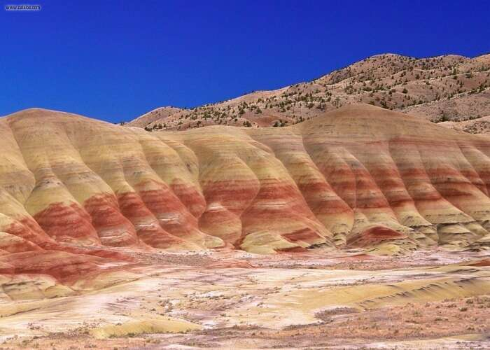 Different shades of hills of John day fossil beds