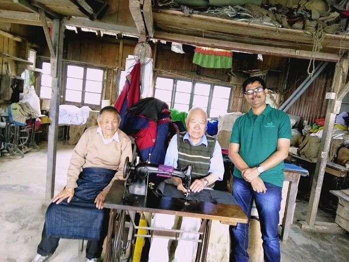 Jitendra proud moment at Tibetans Refugee Center