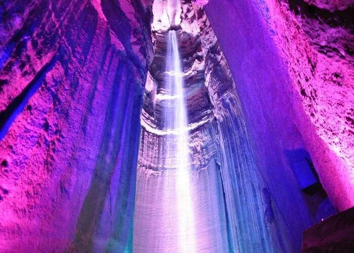 A beautiful underground waterfall