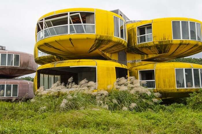 The abandoned UFO-type buildings of Sanzhi in Taiwan