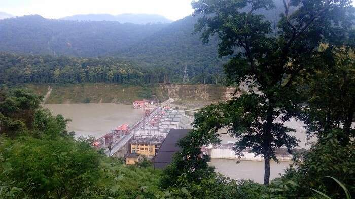 View of Tista dam in Gangtok