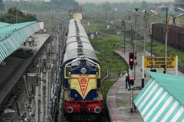 A train at Jalpaiguri Railway Station