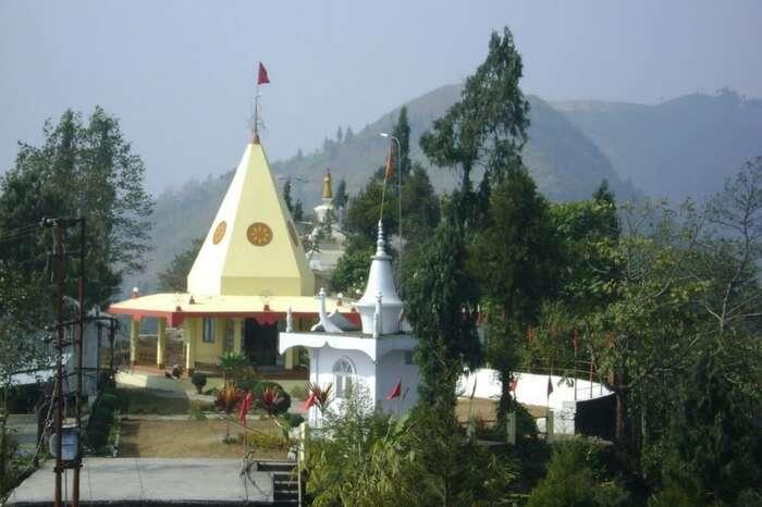 A view of Durga Mandir in Kalimpong