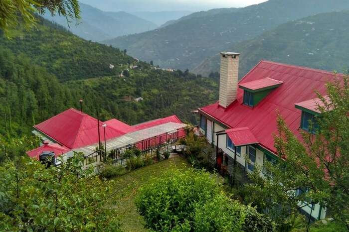 Picturesque Himalayan Orchard overlooking the valley