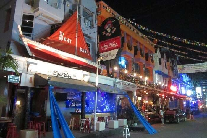 The entrance of the famous Boat Bar that is one of the best bars in Phuket