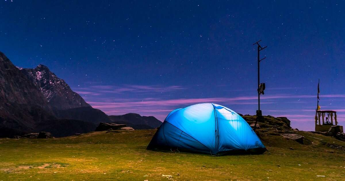 Camping under the stars at the top of Triund hill