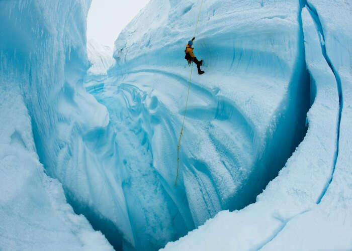 Go on a daring Ice Climbing expedition in Manali, one of the best things to do in Manali during snowfall