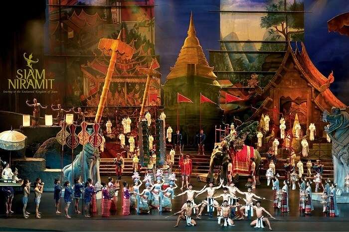 An ad poster of the Siam Niramit show in Phuket