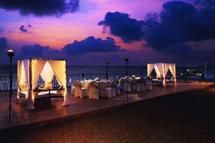 Romantic setting in Vivanta