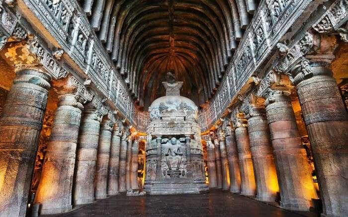 Buddha Statue in Ajanta Caves