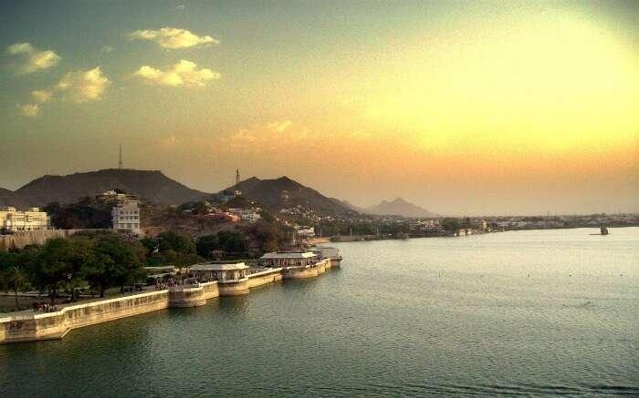 Sunset near Ana Sagar Lake