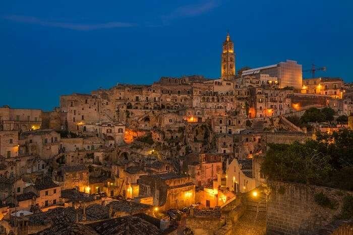 Ancient town of Sassi di Matera at Basilicata in Italy