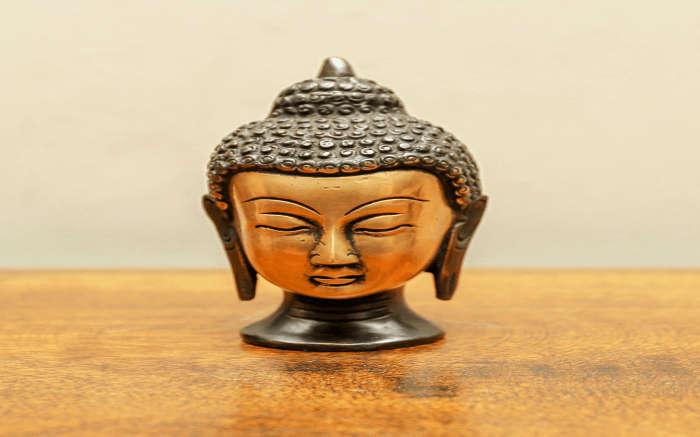 Buddha sculpture made of brass