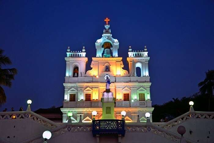 A midnight mass at the Church of Our Lady of the Immaculate Conception Goa