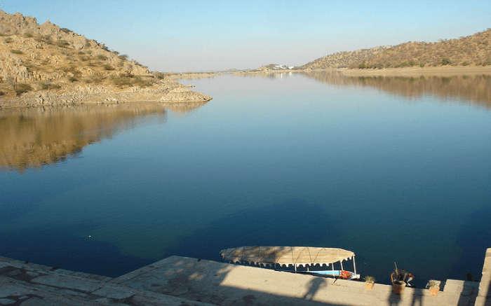 View of Jaisamand Lake