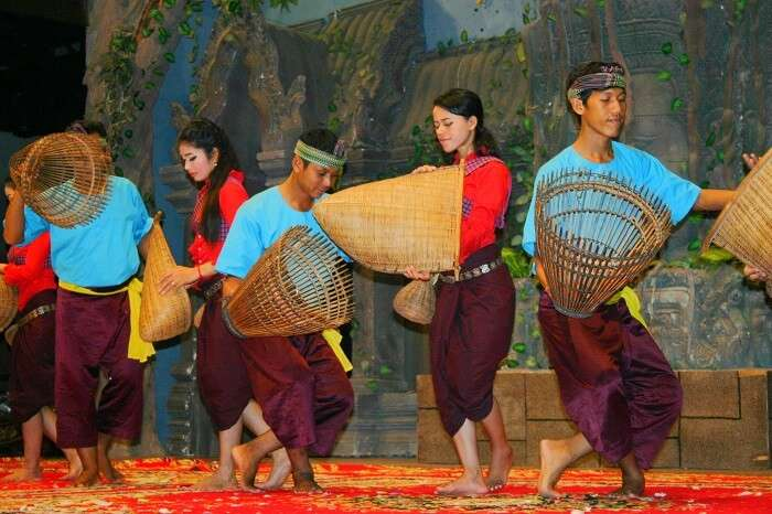 Locals performing the Khmer Folk dance in Cambodia
