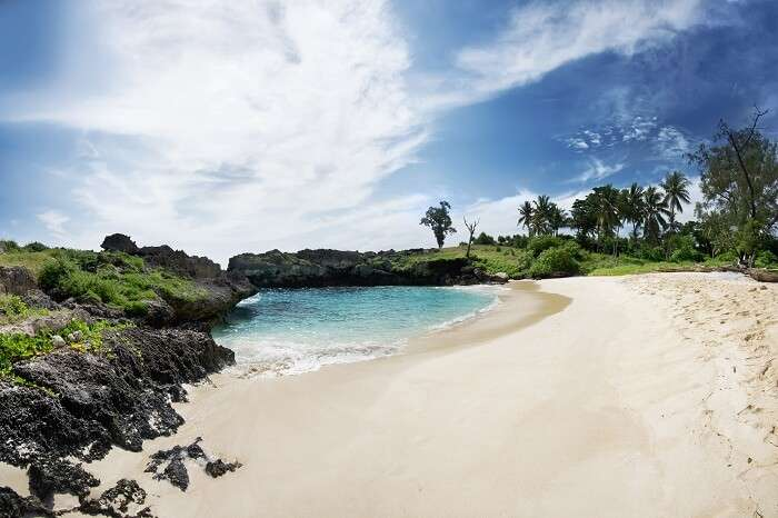 The pristine Mandorak Beach in Sumba