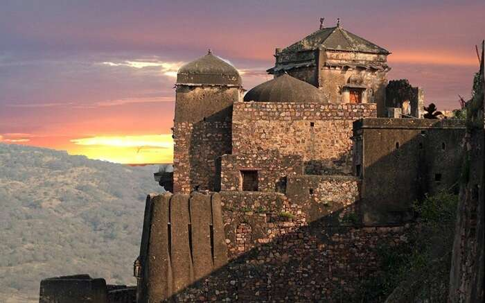 Ranthambhore Fort with incredible sunset backdrop