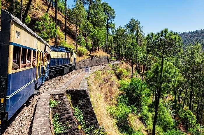 Toy train of Kalka-Shimla Railway built in 1898