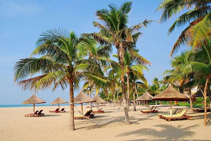 Tropical beach paradise of Sanya in Hainan Province of South China