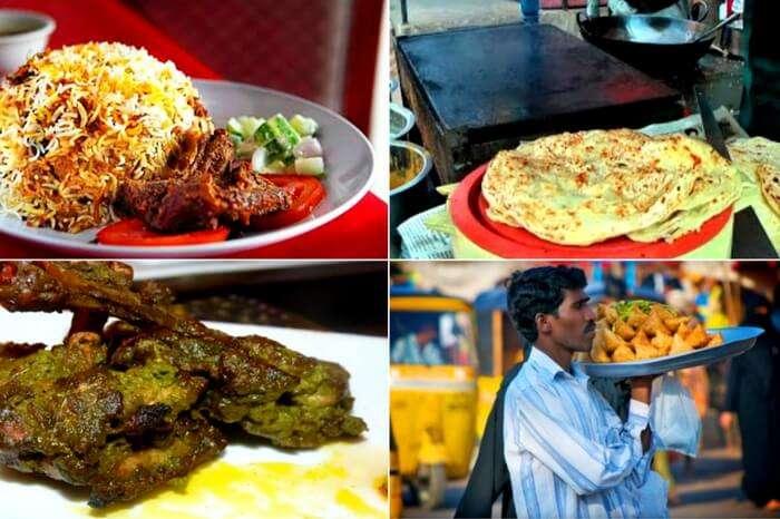 Plenty of street food options available near Pragati Gully