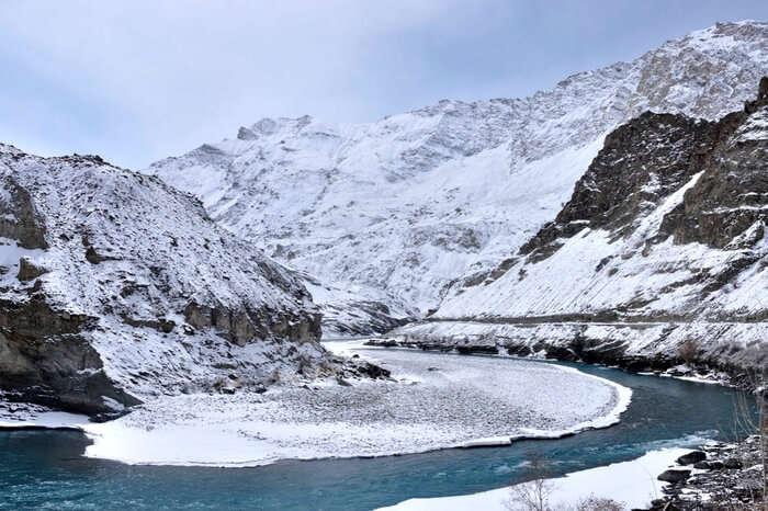 The trail of Snow Leopard Trek in Hemis National Park